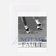 Not My Fault Tennis Greeting Cards (Pk of 10)