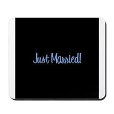Just Married! - Blue Mousepad