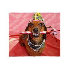 Party Animal Dachshund Throw Blanket