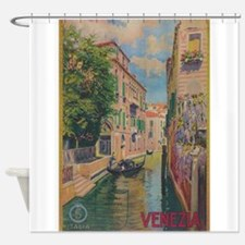 Venice, Italy Vintage Travel Poster Shower Curtain