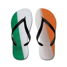 Close-up of the flag of Ireland Flip Flops