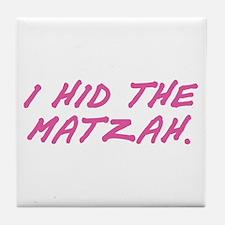 Matzah Pink Tile Coaster