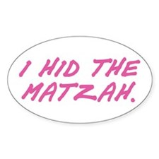 Matzah Pink Oval Decal