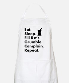 pharmacy eat sleep grumble Apron