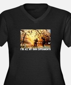 I DO ALL MY OWN EXPERIMENTS 2 Women's Plus Size V-