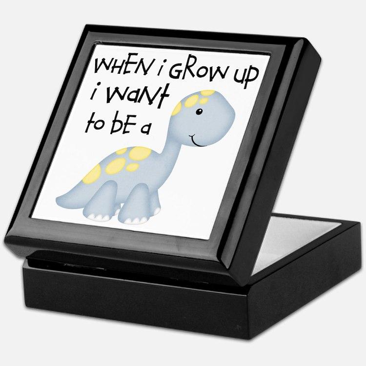 When I Grow Up Dinosaur Keepsake Box