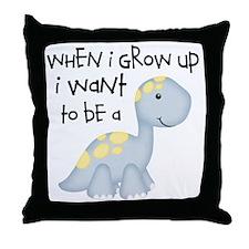 When I Grow Up Dinosaur Throw Pillow