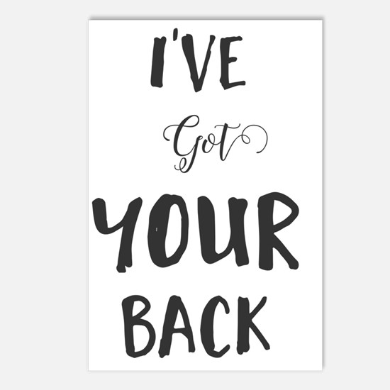 Cute I%27ve got your back Postcards (Package of 8)