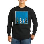 WTD: Blue Album Long Sleeve Dark T-Shirt
