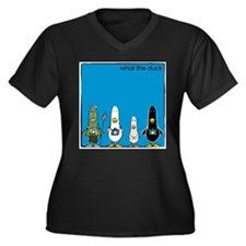 WTD: Blue Album Women's Plus Size V-Neck Dark T-Sh
