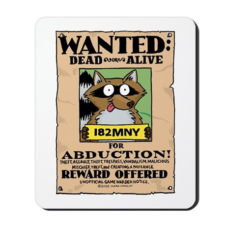 Raccoons Dead or Alive Mousepad