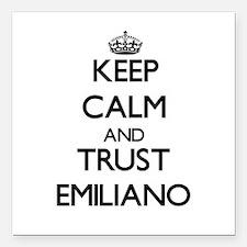 "Keep Calm and TRUST Emiliano Square Car Magnet 3"""