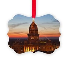 USA, Illinois, Springfield, State Ornament