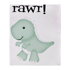 Rawr T-Rex Dinosaur Throw Blanket