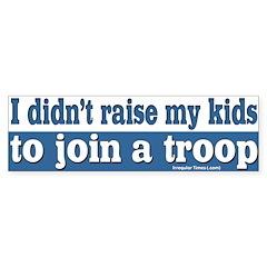 My kids in a troop bumper sticker
