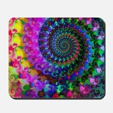 Psychedelic Rainbow Fractal Pattern Mousepad