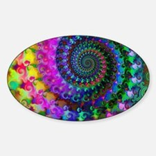 Psychedelic Rainbow Fractal Pattern Decal