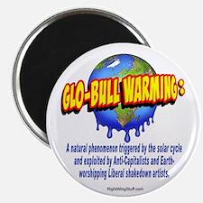 "Glo-bull Warming: 2.25"" Magnet (10 pack)"