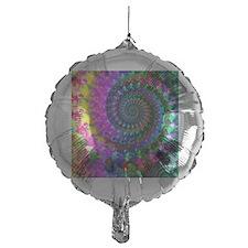 Psychedelic Rainbow Fractal Pattern Balloon