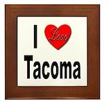 I Love Tacoma Framed Tile