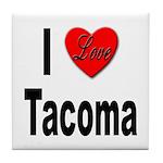 I Love Tacoma Tile Coaster