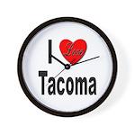 I Love Tacoma Wall Clock