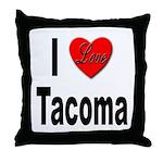 I Love Tacoma Throw Pillow