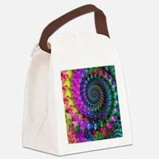Psychedelic Rainbow Fractal Patte Canvas Lunch Bag