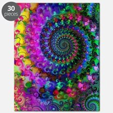 Psychedelic Rainbow Fractal Pattern Puzzle