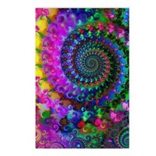 Psychedelic Rainbow Fract Postcards (Package of 8)