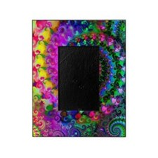 Psychedelic Rainbow Fractal Pattern Picture Frame