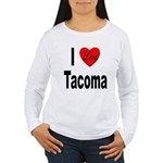 I Love Tacoma (Front) Women's Long Sleeve T-Shirt