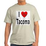I Love Tacoma (Front) Light T-Shirt