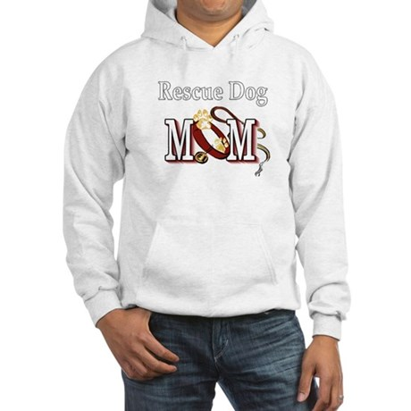 Rescue Dog Mom Hooded Sweatshirt