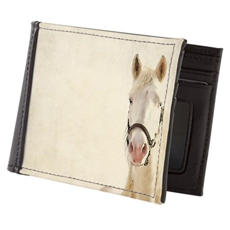 White horse. Mens Wallet
