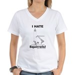 Boot the Squirrel Women's V-Neck T-Shirt