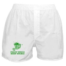 Feelin' Single Seein' Double Boxer Shorts