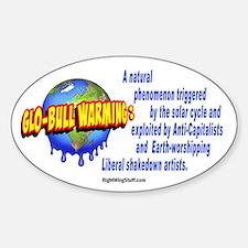 Glo-bull Warming: Oval Decal