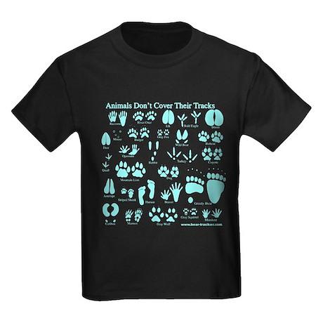 Blue Tracks Kids Dark T-Shirt