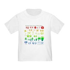 Rainbow 3D Animal Tracks T