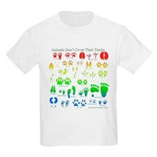Rainbow 3D Animal Tracks T-Shirt