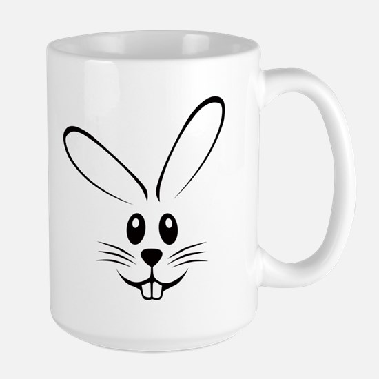 Rabbit Face Large Mug