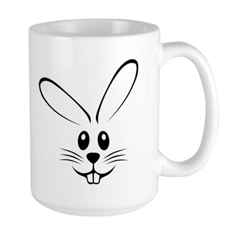 Rabbit Face Large Mug
