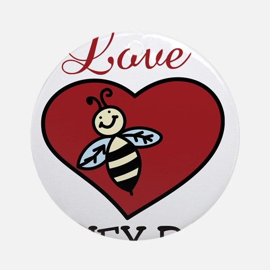 Love Honey Bees Round Ornament