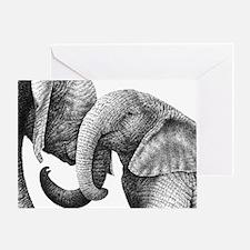 African Elephants Messenger Bag Greeting Card