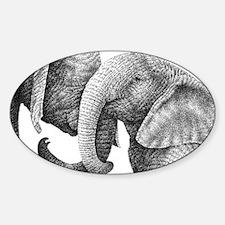 African Elephants Messenger Bag Decal
