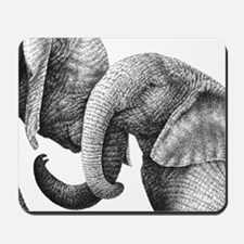 African Elephants Messenger Bag Mousepad
