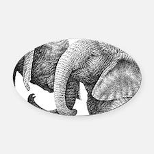 African Elephants Messenger Bag Oval Car Magnet