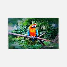 Martinique Macaw 3'x5' Area Rug