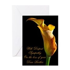 Sympathy on loss of a dear brother Greeting Cards